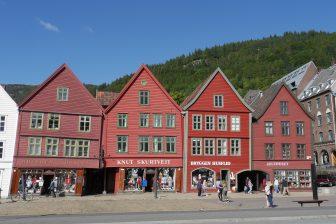 Der Ortsteil Bryggen, gehört zum UNESCO Weltkulturerbe