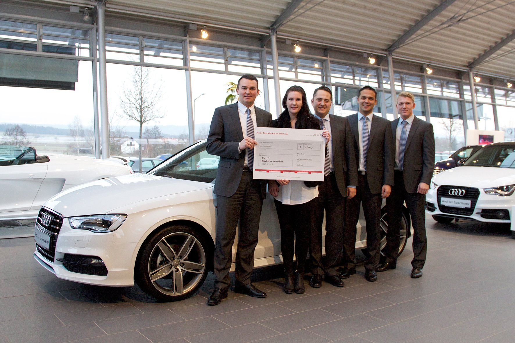 fischer automobile ist audi top verkaufs partner 2014
