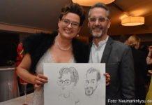 Gut gelaunte Gäste beim Ball der Gastronomie (Karin und Francesco Pagano)