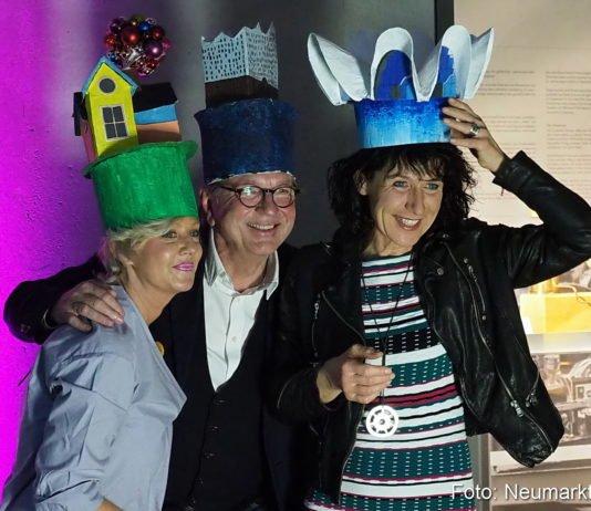Gudrun Berschneider, Johannes Berschneider und Christine Degenhart beim Architekturfest 2018