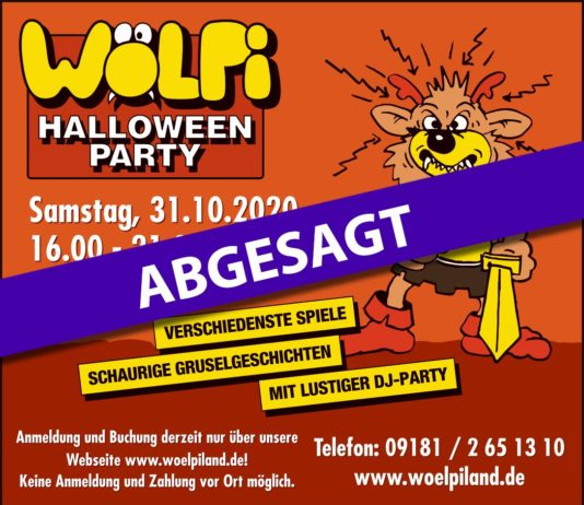 Wölpi Hallloween Party abgesagt